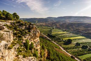 Valle del rio Turia en Ademuz, provincia de Valencia.