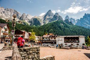 Dolomiti di Pale di San Martino en la provincia del Trentino, Italia