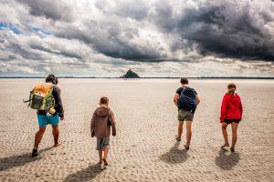 Paseando por la bahía del Mont Saint Michel, Normandia (Francia)
