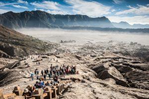 Caldera del volcan Bromo en la isla de Java, Indonesia